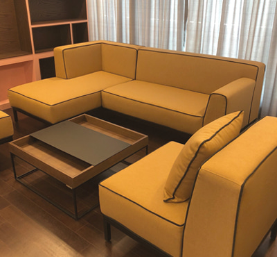OBLEIQUE SOFA SET4 - CAMEL