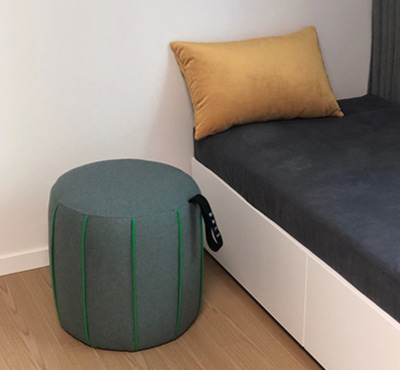 MUFFIN STOOL - GRAY